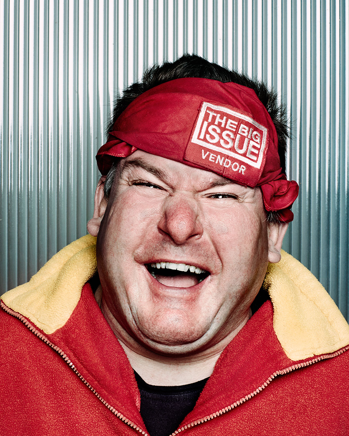 The Big Issue Magazine Vendor Steve