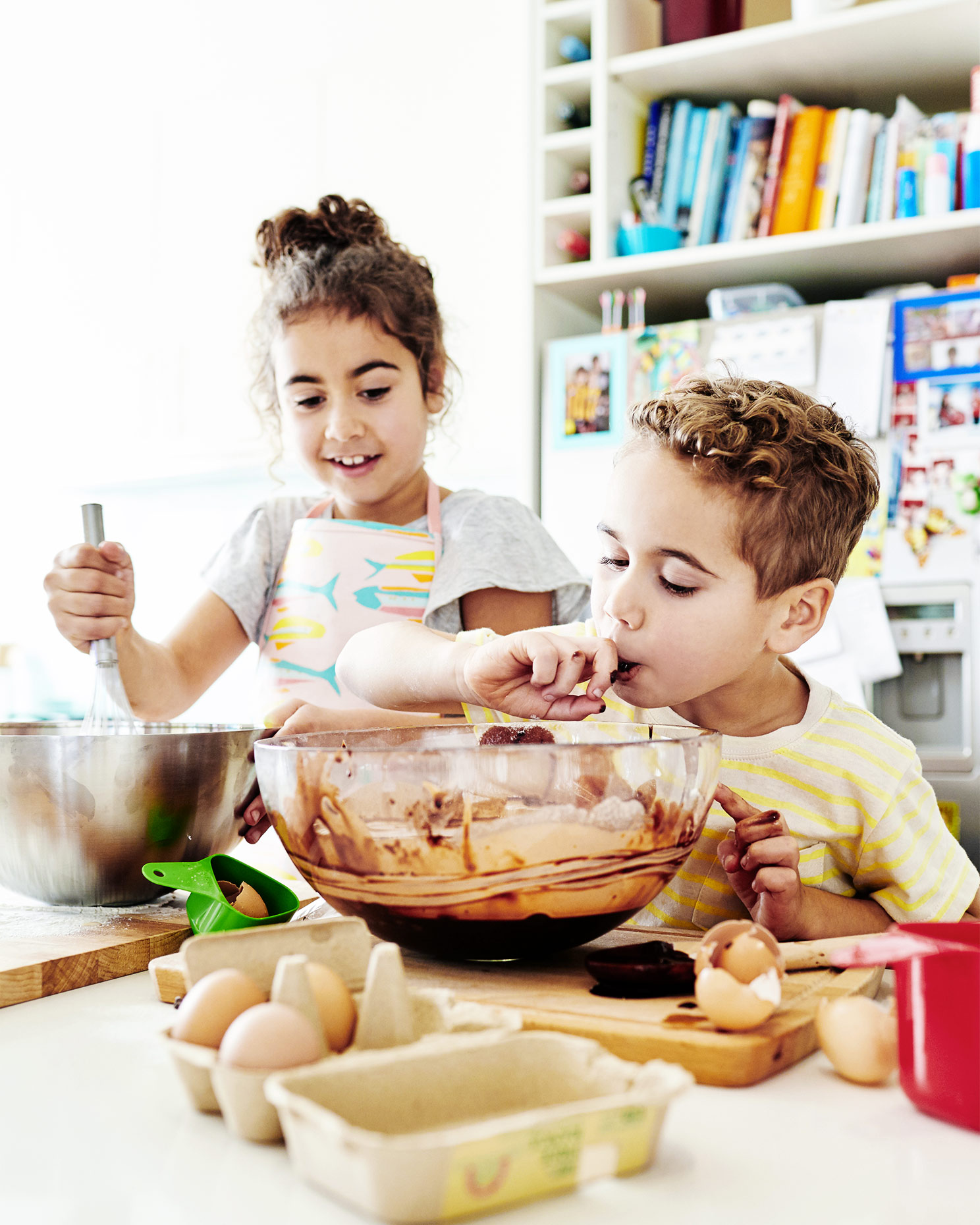 Boy and -girl-cooking